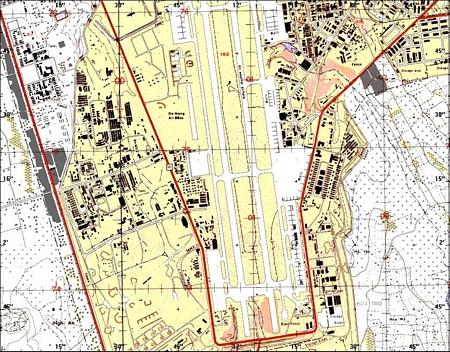 39. Da Nang AB. Map.