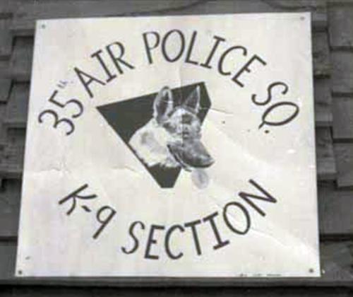 1. Da Nang AB, 366th APS, K-9 Section, Sign. Photo by: Lee Miller, 1965-1966.
