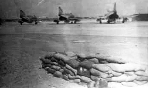 10. Da Nang AB, 366th SPS, K-9: Parking area for F-4 Phantoms, with nearby SP bunker. Photo by: Lee Miller, Nov 1966.