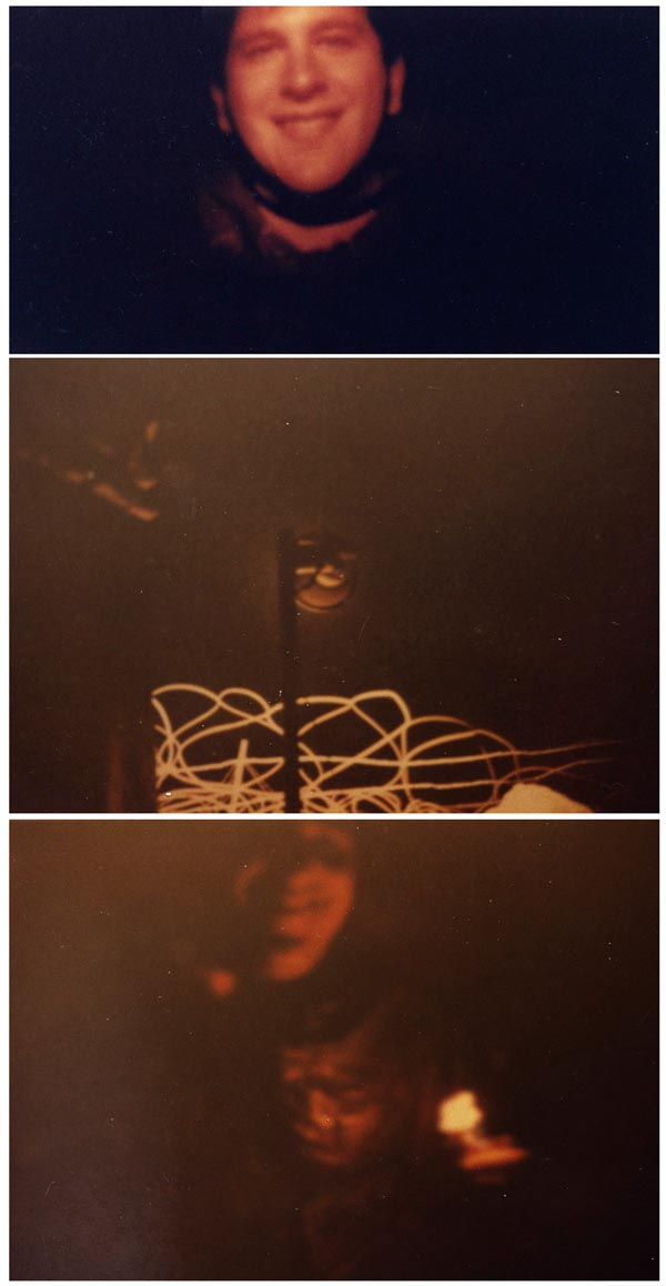 (6) (7) (8) This strip are three photos from Night Perimeter, shot with natural light, and muddied up after 40 years.