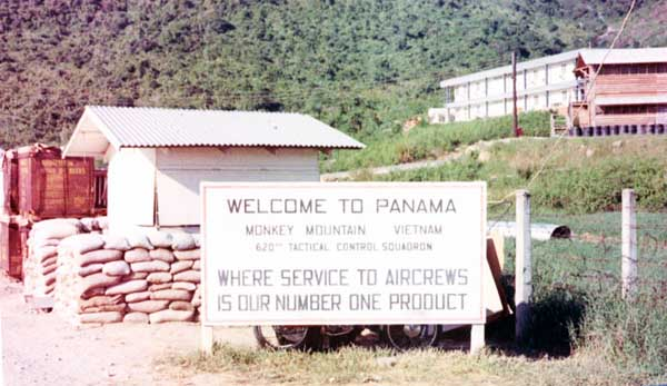 7. Da Nang AB. Monkey Mountain, Welcome to Panama compound. Photo by: Dave Heckler. 1968.
