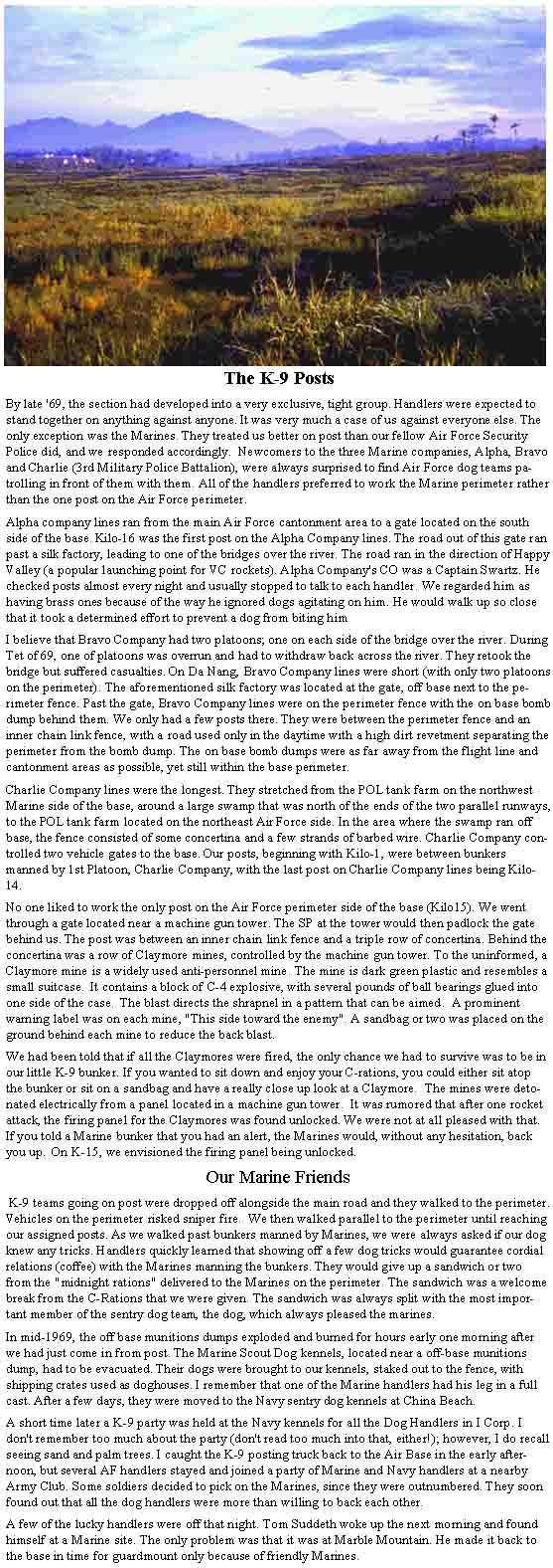 K-9 Posts article.