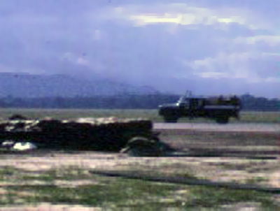 14. Da Nang AB, Air Police vehicle posting Airmen at Bunkers. 1965-1966. Photo by: Don Poss, LM 37, DN, 23rd ABG/APS; 6252nd APS; 35th APS; 366th SPS K9. 1965-1966.