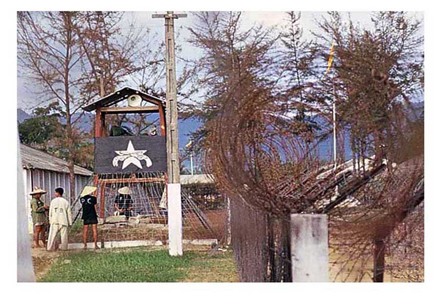 4. Da Nang AB: POW Camp. Photo by Don Poss. 1965-1966.