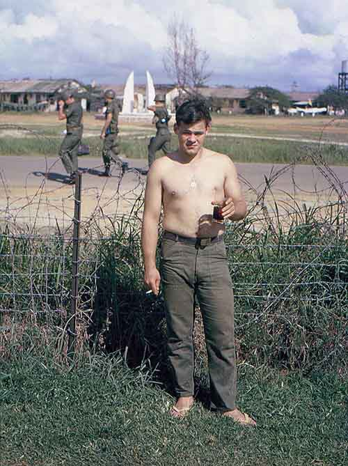 Electricians In My Area >> Da Nang AB: Air/Security Police, Cantonment area, Tent City, by: Don Poss. 1965-1966.