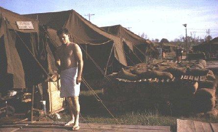 Da Nang USAF Air Police Tents, by Don Poss