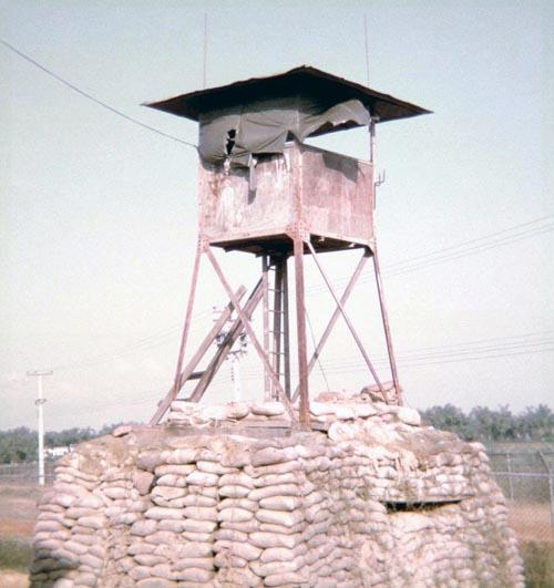 7. Da Nang AB perimeter Bunker and Tower. Photo by: Mel Hecker, 1967.
