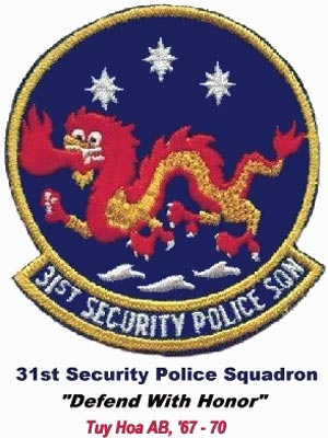 31st Security Police Squadron Emblem - 1970