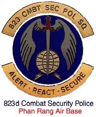 823rd Combat Security Police, crest.