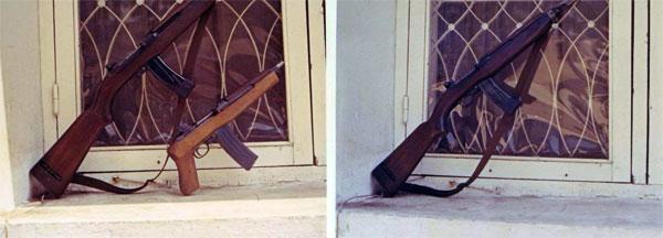 3. U.S. Embassy, Saigon, ARVN Guard Weapons. Photo by: unknown.