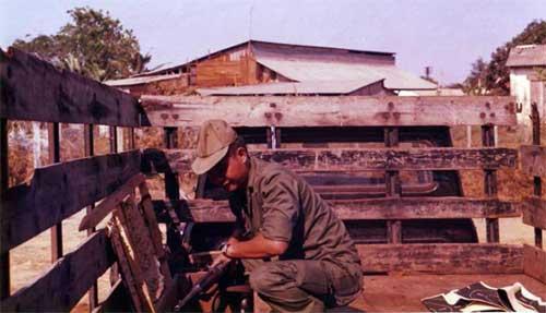 2. U.S. Embassy, Saigon, ARVN Guard Weapons. Photo by: unknown.