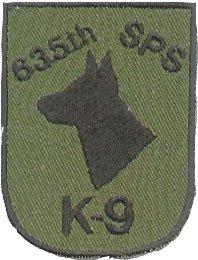 635th SPS, K9 U-Tapao RTAFB 1966-1976