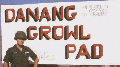 Da Nang K-9 Growl Pad, 'Constructed by Col. P.'s Raiders! 6252nd Air Police Squadron', by Don Poss