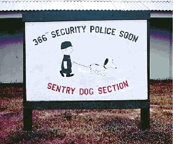 366th SPS K-9 sign.