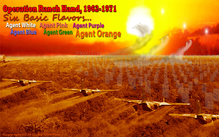 Agent Orange (White, Pink, Purple, Blue, and Green): Vietnam and Thailand. Operation Ranch Hand. Bases and Squadrons.