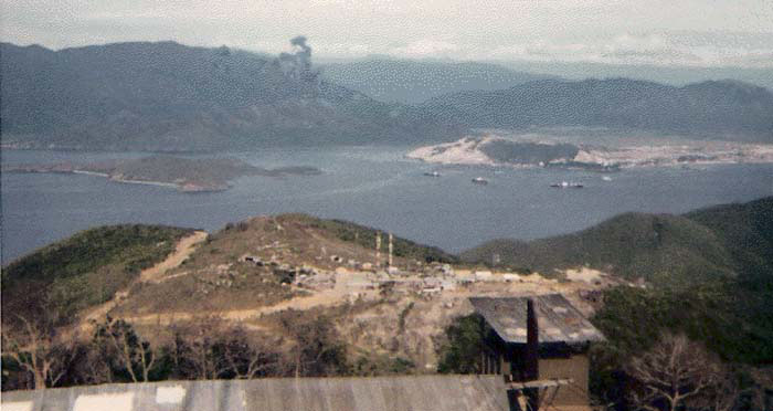 4. Hon Tre Island Portcall Radar and Towers. Photo by: unknown.