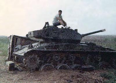 7. Binh Thuy AB: Old French Tank. 1969-1970. Photo by: Wayne Dezarn, BT, 632nd SPS; UT, 635th SPS, 1969-1970.