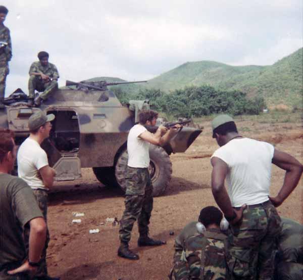 6. Da Nang AB, V100. Range Grenades: M79 Grenade Launcher. 1971. Photo by: Glen H. Myers, NT, 6253 APS 14th SPS; PR 35th SPS; DN, 366th SPS. 1965-1966; 1971.