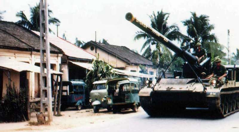 10. Nha Trang AB, U.S. Army: Big Guns: Broken Arrow III (front view). 1968-1969. Photo by: Bruce Thompson, Randy Vuletich, NT, 14th SPS. 1968; 1969.