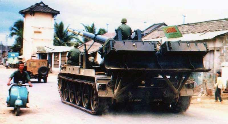 11. Nha Trang AB, U.S. Army: Big Guns: Broken Arrow III (rear view). 1968-1969. Photo by: Bruce Thompson, Randy Vuletich, NT, 14th SPS. 1968; 1969.