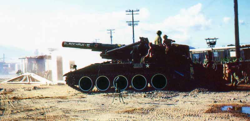 13. Nha Trang AB, U.S. Army: Bigger Guns: Blackhawk III. Note Tower center-right. 1968-1969. Photo by: Bruce Thompson, Randy Vuletich, NT, 14th SPS. 1968; 1969.