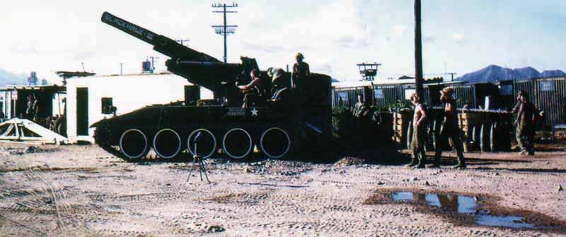 14. Nha Trang AB, U.S. Army: Bigger Guns: Blackhawk III. Elevated and ready to fire. 1968-1969. Photo by: Bruce Thompson, Randy Vuletich, NT, 14th SPS. 1968; 1969.