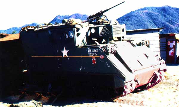 7. Nha Trang AB, U.S. Army: New Armor with .50cal. 1968-1969. Photo by: Bruce Thompson, Randy Vuletich, NT, 14th SPS. 1968; 1969.
