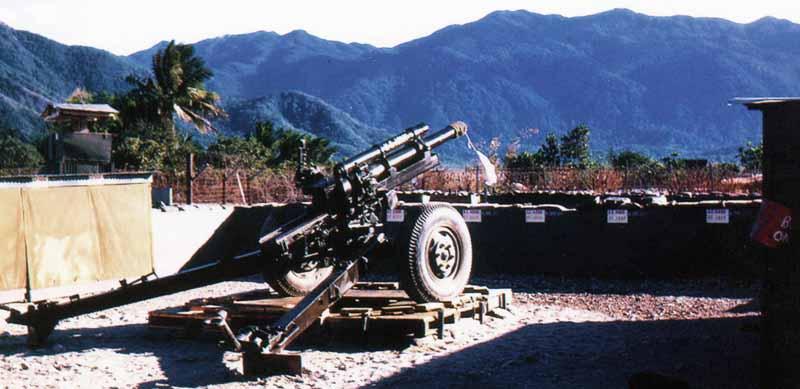 8. Nha Trang AB, U.S. Army: 105mm Howitzer. 1968-1969. Photo by: Bruce Thompson, Randy Vuletich, NT, 14th SPS. 1968; 1969.