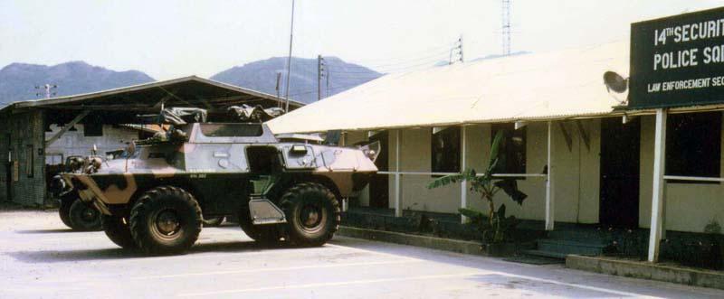 5. Nha Trang AB, SP V100 APC, 14th SPS Law Enforcement Section. 1968-1969. Photo by: Bruce Thompson, Randy Vuletich, NT, 14th SPS. 1968; 1969.