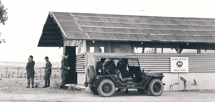 5. Phu Cat AB, SPS Safeside Jeep: Seventh Air Force Mortar School. 1969-1970. USAF Photo via Don Bishop 1969-1970.