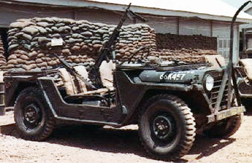 7. Pleiku AB, QRT Jeep with M60. 1968. Photo by: Pat Dunne, LM 40 (Charter Member), PK, 633rd SPS, 1968.