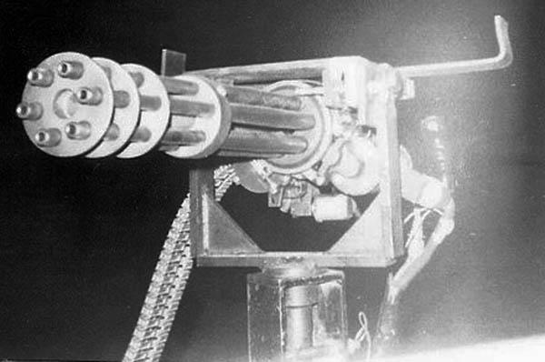6. Phan Rang AB: QRT Jeep, Gatlin Gun, close up. 1970. Photo by: Phil Sperflage. 1970.