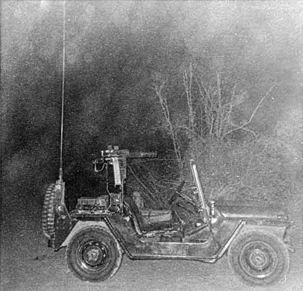 3. Phan Rang AB: QRT Jeep, Gatlin Gun. 1970. Photo by: Phil Sperflage. 1970.