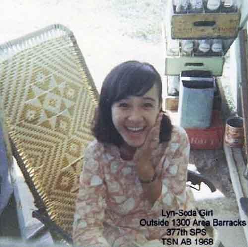 9. Tan Son Nhut AB, HW Soda Girl (Lynn). Barracks-1300. 1968. Photo by: Larry Blades, TSN, 377th SPS, 1967-1968.