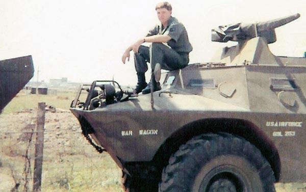 11. Tan Son Nhut AB, USAF V100 (War Wagon), SAT Heavy Weapons, Perimeter Road. 1968-1969. Photo by: Ed Smith (Jack), LM 453, TSN, 377th SPS, 1968-1969.