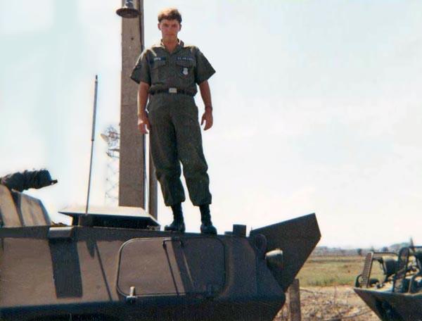 12. Tan Son Nhut AB, USAF V100 (War Wagon), SAT Heavy Weapons, Perimeter Road. 1968-1969. Photo by: Ed Smith (Jack), LM 453, TSN, 377th SPS, 1968-1969.