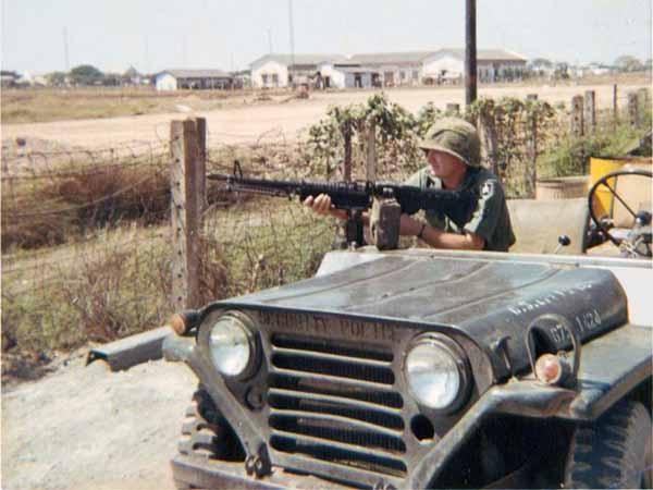 13. Tan Son Nhut AB, USAF V100 (War Wagon), QRT M60 Heavy Weapons, Perimeter Road. 1968-1969. Photo by: Ed Smith (Jack), LM 453, TSN, 377th SPS, 1968-1969.