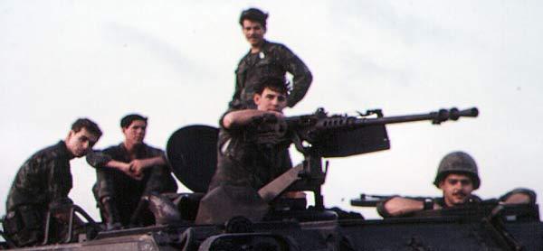 3. Tuy Hoa AB, M113, with .50cal machinegun. Photo by: Domenic Sebben, NT, 14th SPS; TUY, 31st SPS, 1969-1970.