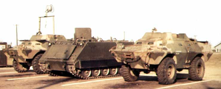 2. Tuy Hoa AB, V100, with Searchlight, M113 APC, and V100. Photo by: Domenic Sebben, NT, 14th SPS; TUY, 31st SPS, 1969-1970.