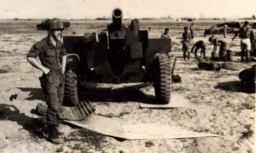 13. Tuy Hoa AB, 'Louie' 105 Howitzer, ARVN. Photo by: Sheperd,TUY, 31st SPS.