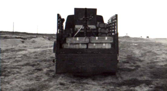 15. Tuy Hoa AB, SP Portable 81mm Mortar Truck (rear view). Photo by: Sheperd,TUY, 31st SPS.