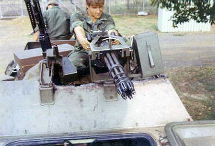 1. Ubon RTAFB. V100 Gatlin Gun. 1971-1972. Photo by: Everett (Willie) Squires, UB, 8th SPS, HW, 1971-1972.