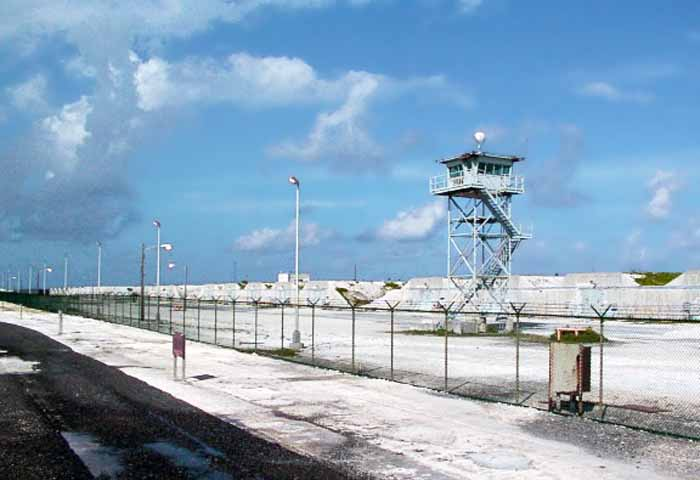 1. Johnston Island, Agent Orange storeage. Security Tower and Bunkers.