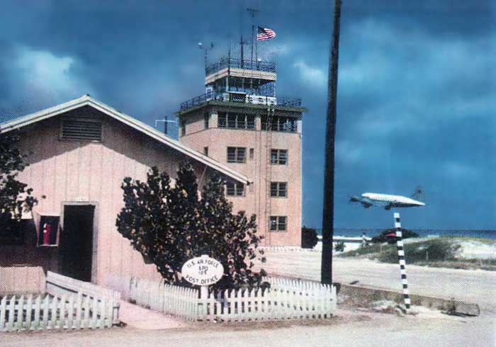 2. Johnston Island, Agent Orange storeage. Control Tower and U.S. Post Office.