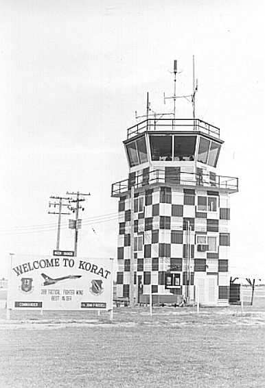 1. Korat RTAFB Control Tower. Photo Courtesy of Korat Mainpage.