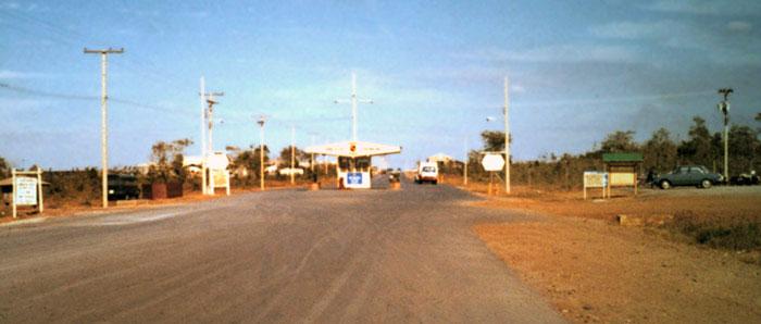 2. Korat RTAFB, approach to Main Gate. Photo by: John Homa. 1969.