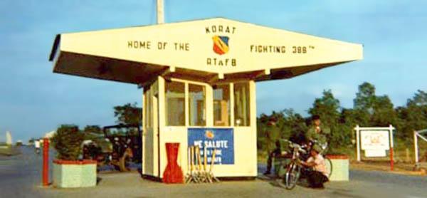 1. Korat RTAFB Main Gate.