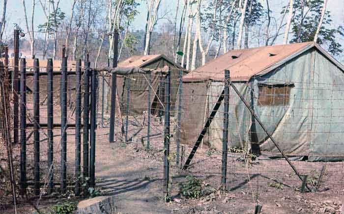 Nui Dat, Australian Viet Cong Prisoner holding area. Dicky Bird Motel. MSgt Summerfield: 12