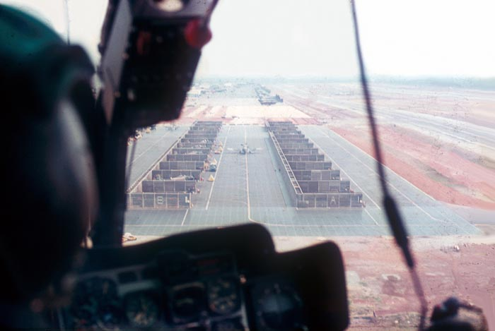 6. NKP: Aerial photo from of an HH-43