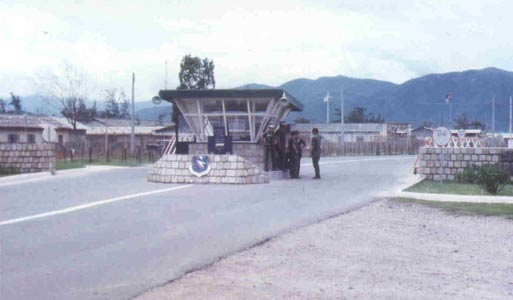 3. Nha Trang AB, Main Gate. SPS. Photo by Domenic Sebben. 1969-1970.